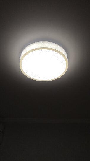 金幻 led吸顶灯卧室灯圆形客厅灯具灯饰温馨个性创意现代简约 【泡泡】遥控调光30瓦 直径40cm 晒单图