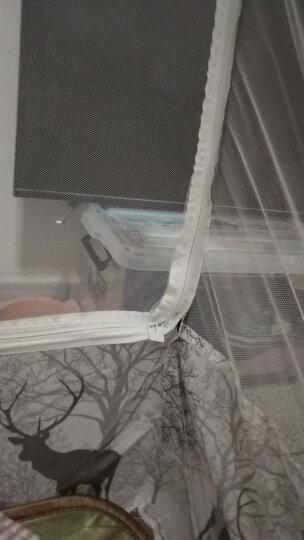 暖莎家纺 免安装蒙古包蚊帐家用三开门公主风加密1.5米1.8米床宿舍1.2纹帐 免安装蚊帐-吉祥鹿 150*200cm全底 晒单图