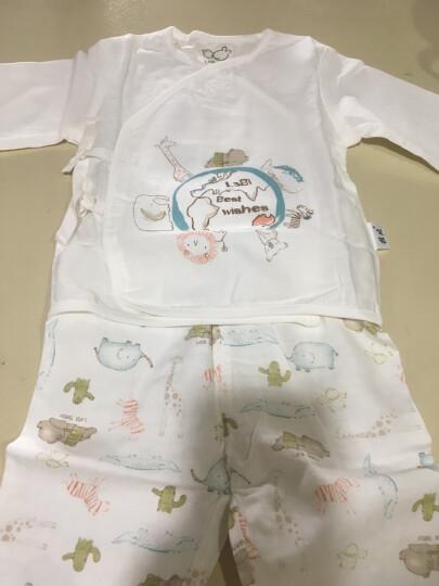 拉比婴儿衣服新生儿和尚服夏季薄款男女童宝宝纱布睡衣内衣套装 不开档款 59码/参考身高52-59cm 晒单图