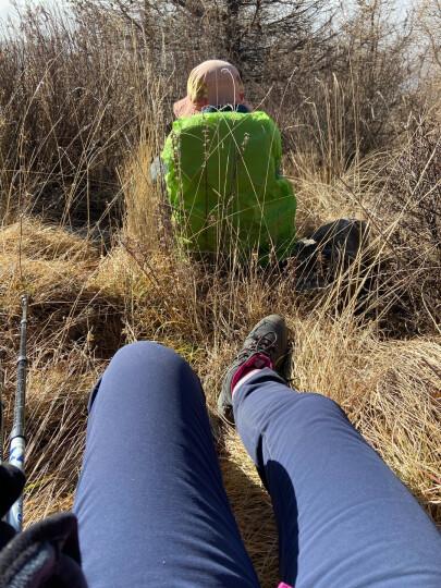 ALPINT MOUNTAIN 埃尔蒙特 男女款徒步登山袜透气 跑步袜 户外袜子 女款  粉红色M 晒单图