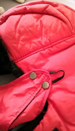 百尚意特 男女士雷锋帽 加绒加厚冬季防风棉帽 户外防寒冬帽 带口罩护颈 LFM001 红色 晒单图