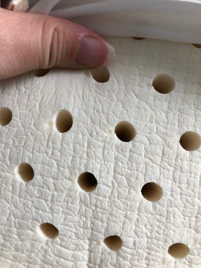 京东京造 纯享系列 泰国进口天然乳胶枕头 93%乳胶含量 泰国原芯直采颗粒按摩枕芯 高面11cm/低面9cm 晒单图
