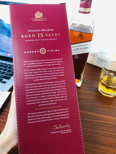 尊尼获加(JOHNNIE WALKER)洋酒 绿方 绿牌 15年 苏格兰进口威士忌750ml 洋酒礼盒 晒单图