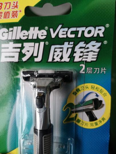 吉列(Gillette) 手动剃须刀刮胡刀刀片 吉利 威锋旋转双层(3刀头)(此商品不含刀架) 晒单图