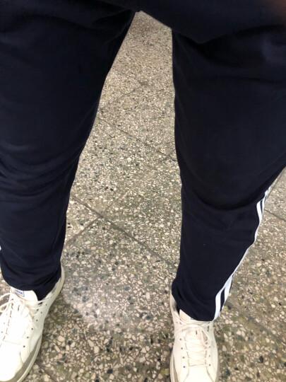 【滔搏运动】adidas阿迪达斯男裤舒适透气运动裤跑步训练健身宽松卫裤三条纹针织长裤子 DQ3079 M 晒单图