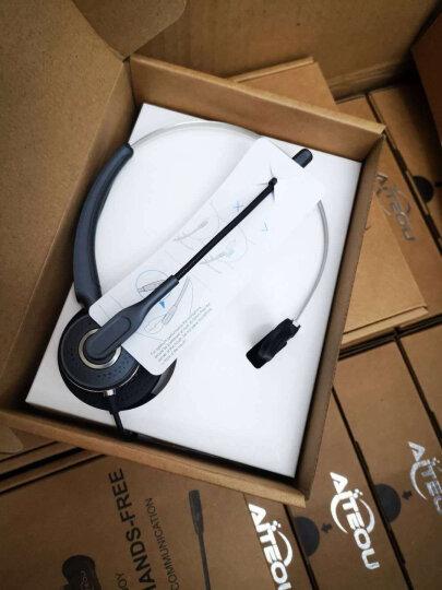 艾特欧A310呼叫中心话务耳机 客服耳麦 座机 电脑话务员耳机 A310+微软Lync系统专用USB连接线 晒单图