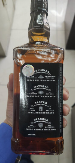 杰克丹尼(Jack Daniel's)洋酒 美国田纳西州 威士忌 进口洋酒 700ml (黑标礼盒装) 晒单图