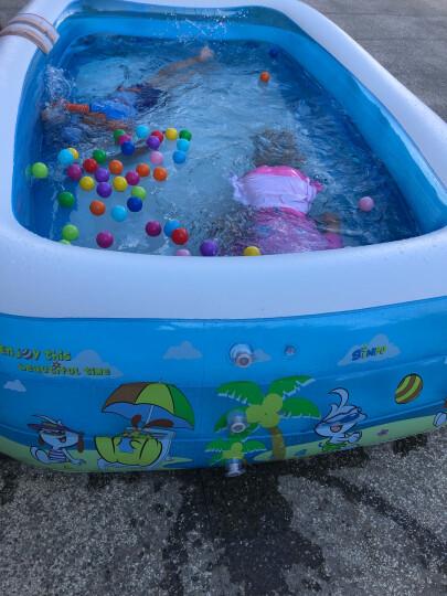 诺澳 充气泳池大号儿童游泳池家用室内小孩玩具戏水池海洋球池加厚保温婴儿游泳桶宝宝洗澡盆成年人充气浴缸 豪华套餐152*108*51cm 晒单图