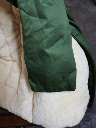 棉大衣男冬季加厚加长款保安大衣黄防寒服军绿正品棉袄棉服 2020升级款可拆卸加厚加绒绿大衣 均码(适合160-190cm穿) 晒单图