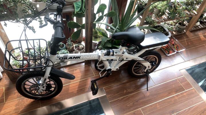 折叠自行车男女成人儿童折叠山地车学生车减震变速双碟刹16寸14寸小轮单车 粉色(变速+双碟刹+辐条轮) 16寸 晒单图