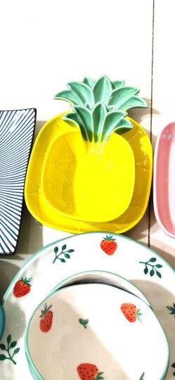摩登主妇欧式陶瓷哑光菜盘摆拍盘子ins风单柄家用烘焙焗饭盘烤盘 黑色方形烤盘 晒单图