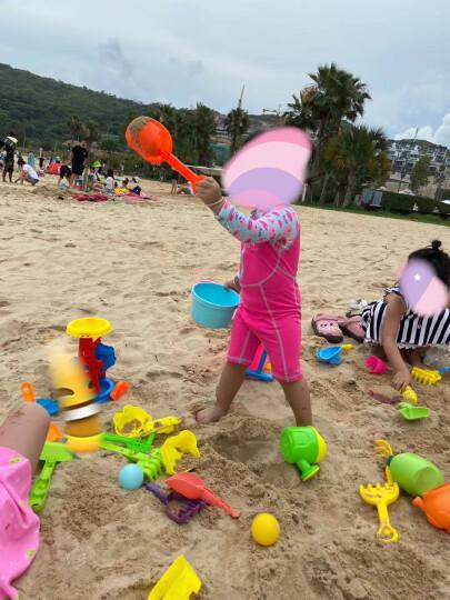 儿童节沙滩早教玩具工程车套装大号宝宝洗澡夏日戏水桶铲子玩沙子挖沙挖土玩沙工具生日礼物 大号加厚沙滩推车 晒单图
