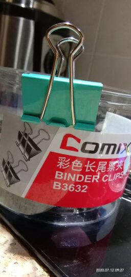 齐心(Comix)长尾夹大号 彩色金属燕尾夹票据夹子 2#41mm 24只/筒 办公用品B3632 晒单图