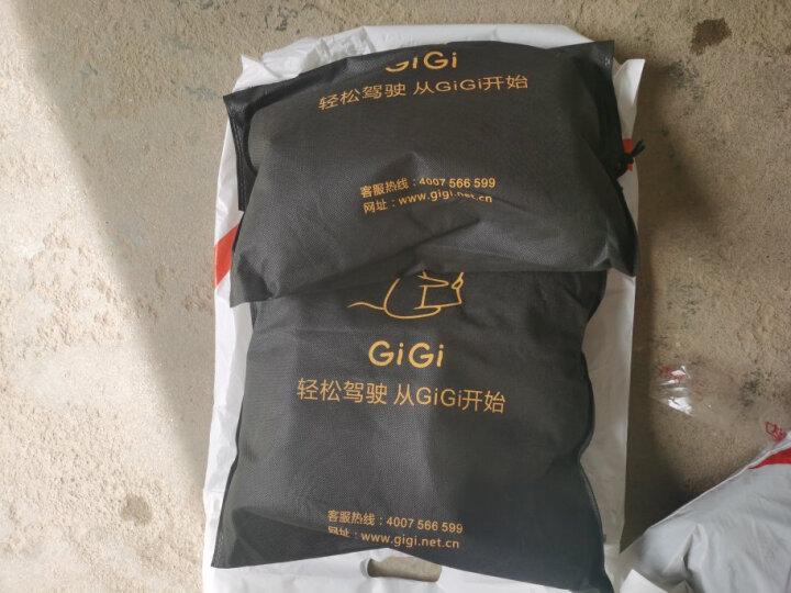 吉吉(GiGi)汽车腰靠 GT-1328竹炭记忆棉靠枕 背靠垫 车用办公用腰枕黑色 晒单图