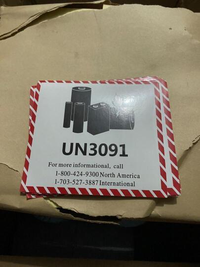 Congce 锂电池防火标签贴 航空物流警示标签 CAUTION易碎电子产品标签可定制印刷 B款 90*55mm*40贴/包 晒单图