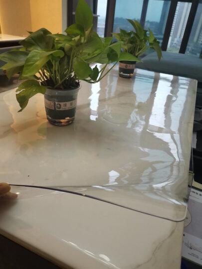 钟爱一生桌布防水桌垫餐桌布软玻璃透明茶几垫无味胶垫台布磨砂PVC塑料水晶板学生书桌垫防油圆桌布定制 无味波斯菊1.7mm 70*130cm 晒单图