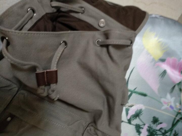 墨一 双肩包男韩版休闲帆布包潮牌男士背包商务旅行电脑包运动潮流高中学生书包 时尚灰色充电款 晒单图