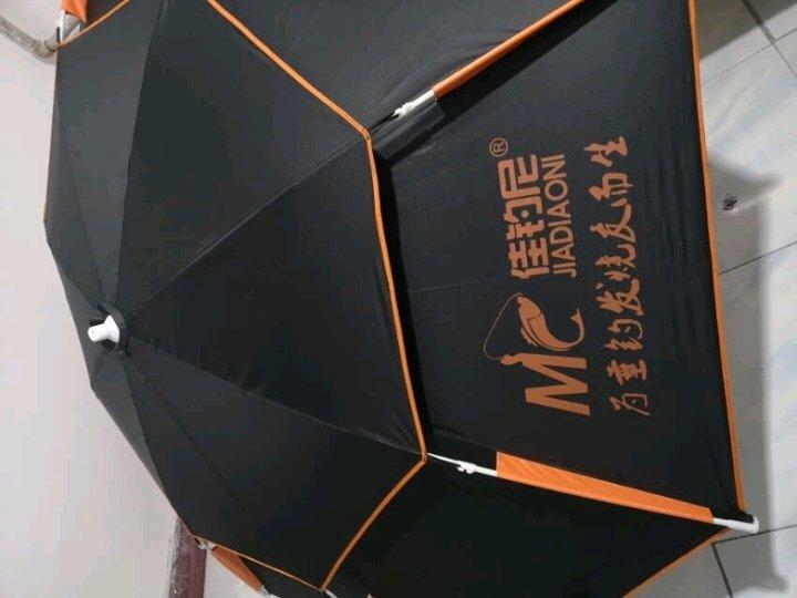 佳钓尼(JIADIAONI) 伏魔钓鱼伞 2.4米万向 防雨防紫外线防晒防风加厚 钓鱼遮阳伞垂钓 2.4米A款伏魔伞(橙色) 钓鱼伞 晒单图