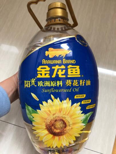 金龙鱼 食用油 原料欧洲进口 物理压榨 自然葵香 阳光葵花籽油4L(新老包装随机发货) 晒单图