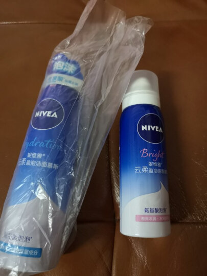 妮维雅(NIVEA)云柔盈泡洁面慕斯150ml(氨基酸洗面奶 盈亮型 护肤化妆品) 晒单图