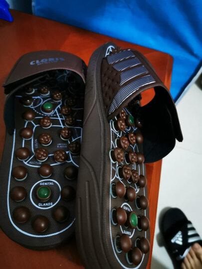 凯伦诗(CLORIS)德国品牌 按摩拖鞋足底按摩鞋保健鞋足疗鞋穴位养生玉石男女保健家居鞋 褐色 M(40-42码请选) 晒单图