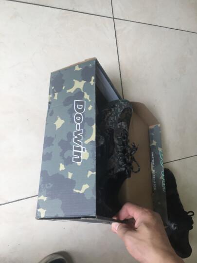 多威(Do-win)跑步鞋丛林迷彩男女军训马拉松跑步训练鞋  防滑透气耐磨 黑色作训鞋2713F 43 晒单图