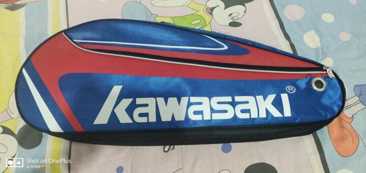 川崎KAWASAKI 羽毛球包 独立鞋袋双肩包 6支装 KBB-8637 晒单图