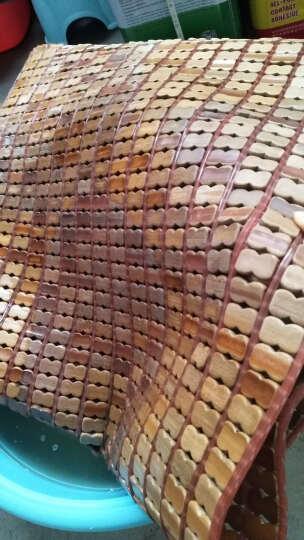 正帆夏季麻将竹席垫凉席碳化麻将床席单双人1.5米1.8m学生竹席子可定制定做 窄边包边包底双筋咖色 1.35m(4.5英尺)床 晒单图
