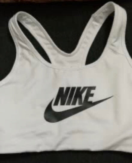 NIKE耐克女装 2020夏季新款运动背心跑步防震瑜伽健身bra胸衣紧身内衣胸罩899371-010 BV3917-100/白色/中强度 XL 晒单图