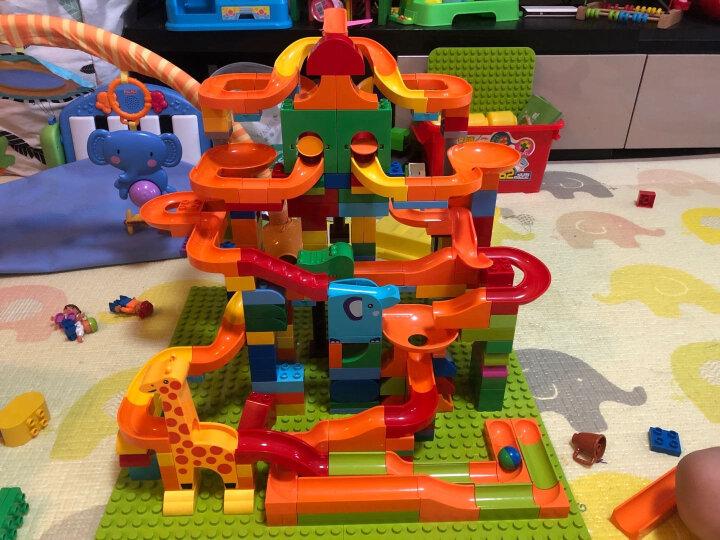 欢乐客滑道积木71件F4109A 大颗粒我的积木世界兼容乐高得宝儿童玩具 幼儿早教拼装拼接拼插男女孩礼物 晒单图
