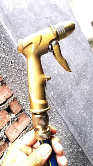 车旅伴(Car Buddy)高压洗车水枪 家用庭院清理水枪 全铜喷枪头套装 不含水管香槟金色 汽车用品HQ-C1302 晒单图