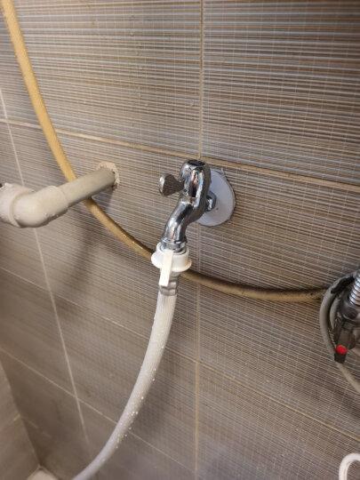 潜水艇水嘴洗衣机4分水龙头铜主体陶瓷阀芯银色镀铬L101X京 晒单图