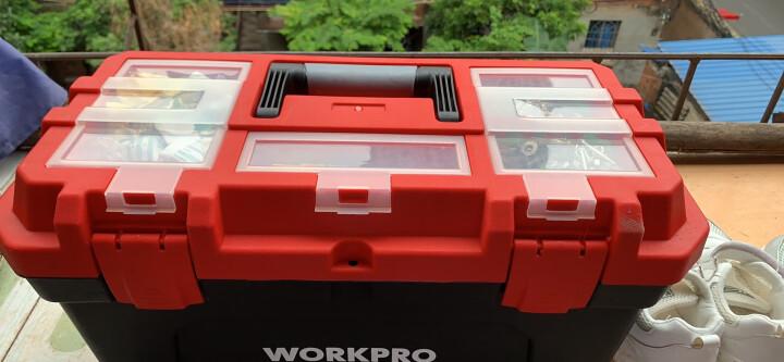 万克宝(WORKPRO)W083025N 四层塑料工具箱家用收纳箱 手提式车载中号美术箱14.5英寸 晒单图