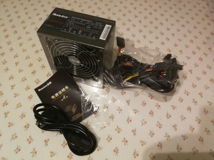 航嘉(Huntkey)白牌500W JUMPER500电脑电源(80PLUS白牌/单路40A/主动PFC/双管正激/全电压/背部走线) 晒单图
