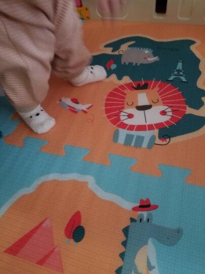 贝博氏宝宝爬行垫拼接地垫加厚拼图婴泡沫地垫EPE动物世界(56cm*56cm*2cm*6片装 送边条)PX02A2新年礼物 儿童 晒单图
