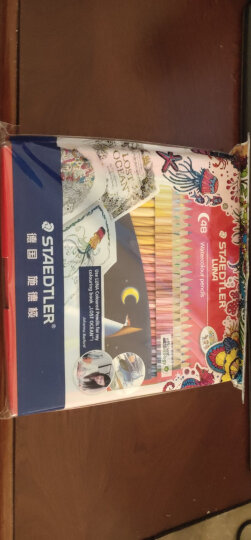 德国施德楼(STAEDTLER)水溶性彩铅笔彩色铅笔12色涂色填色彩笔绘画笔套装13710C12(赠画笔) 晒单图