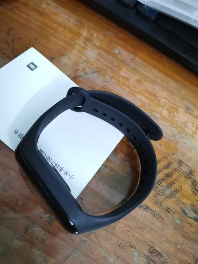 小米(MI)小米手环3 心率智能运动手环男女腕带防水手表计步器消息来电提醒 华为苹果手机适用 小米手环3黑色+原装腕带黑色 晒单图