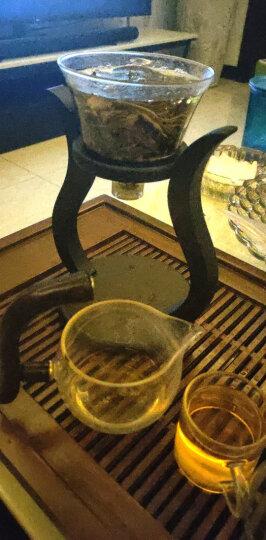 尚言坊茗器 茶具套装 整套功夫茶器青花瓷玻璃飘逸杯竹茶盘茶托居家办公 四方茶趣密胺盘-玲珑向阳花茶壶10入茶具套装 晒单图