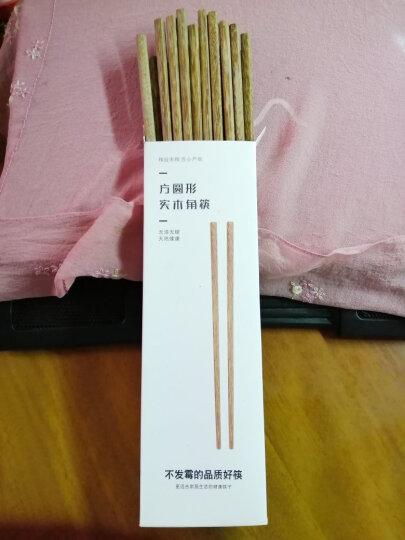 LICHEN筷子鸡翅木无漆无油原木筷十双盒装 红檀木成人筷10双 晒单图