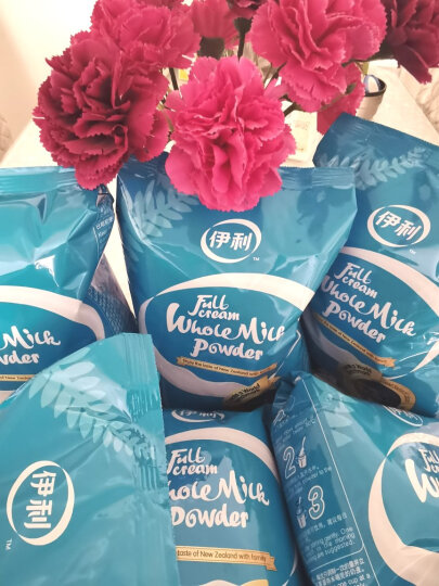 伊利 全脂甜奶粉400g袋装 成人奶粉 维生素B2 咖啡伴侣 独立小包装16*25g(新老包装随机发货) 晒单图