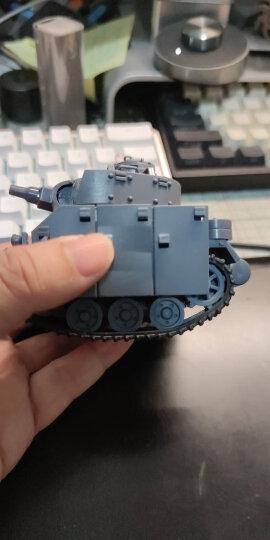 MENG Q版拼装军事仿真模型二战轰炸战斗机虎式坦克舰船免胶益智组装玩具 苏联KV-2 特别版(含公仔) 晒单图