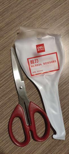 得力(deli)160mm办公生活剪刀 家用裁缝剪 颜色随机 晒单图