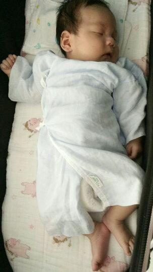 全棉时代 婴儿衣服 纱布婴儿服初生纯棉四季 59/44(建议0-3个月) 蓝色+白色 短款+长款 2盒4件装 晒单图
