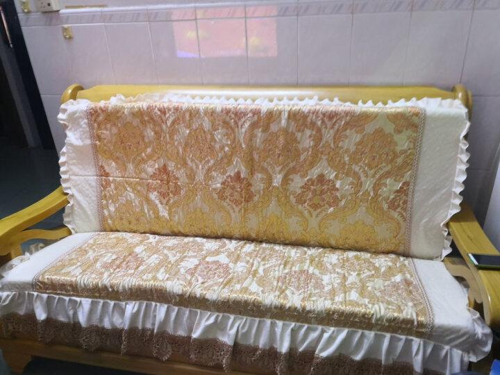 贵妮 实木沙发坐垫带靠背 秋冬毛绒红木椅垫加厚防滑组合沙发垫可拆洗 富贵金-金色 扶手一对 晒单图
