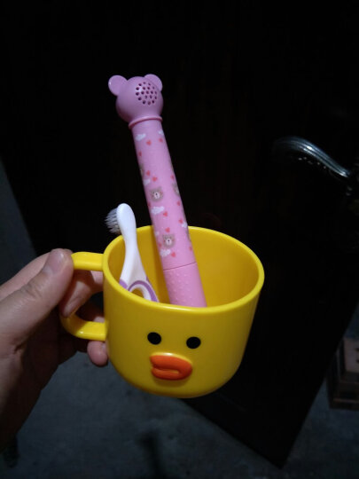 易简(yijan)儿童电动牙刷 婴儿牙刷 防水 音乐幼儿牙刷 K2 晒单图