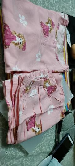 南极人儿童家居服套装夏季薄款男女童空调服透气绵绸睡衣 汽车图标 140cm 晒单图