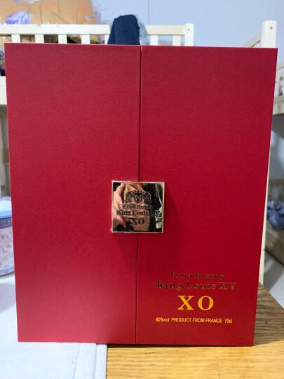 【配杯架+洋酒杯6个】法国原装进口XO 珍藏级洋酒白兰地 国王路易十五至尊版烈酒40度700ML礼盒 晒单图