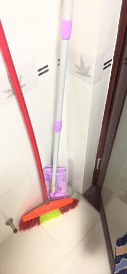 妙洁夹布平板拖把 家用办公室木地板墩布伸缩杆式托把擦窗玻璃清洁工具神器吸推除尘 晒单图