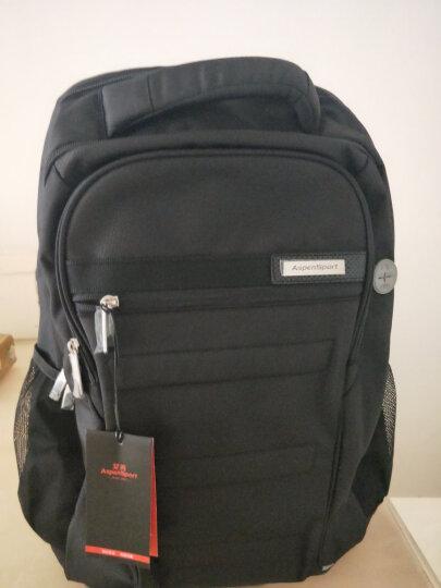 艾奔男士双肩包 书包男潮流学生韩版商务休闲背包女旅行电脑包 迷彩灰/红 19英寸可放16英寸电脑 晒单图
