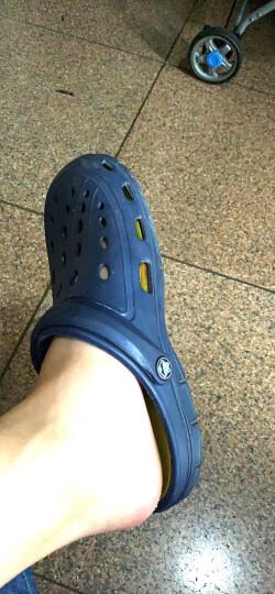 酷趣Coqui 情侣洞洞鞋防雨轻质排沙两穿休闲百搭凉拖鞋男款 深蓝42 CQ6351 晒单图